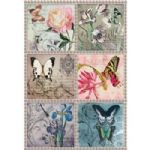A4 Rice Paper - 198 Florals and Butterflies